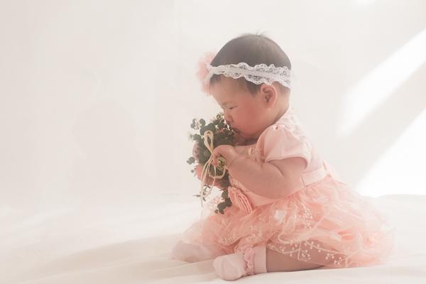 【女の子】ドレスと和装ロンパースが可愛い牧さんご家族